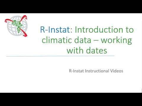 Introduction to climatic data - working with dates