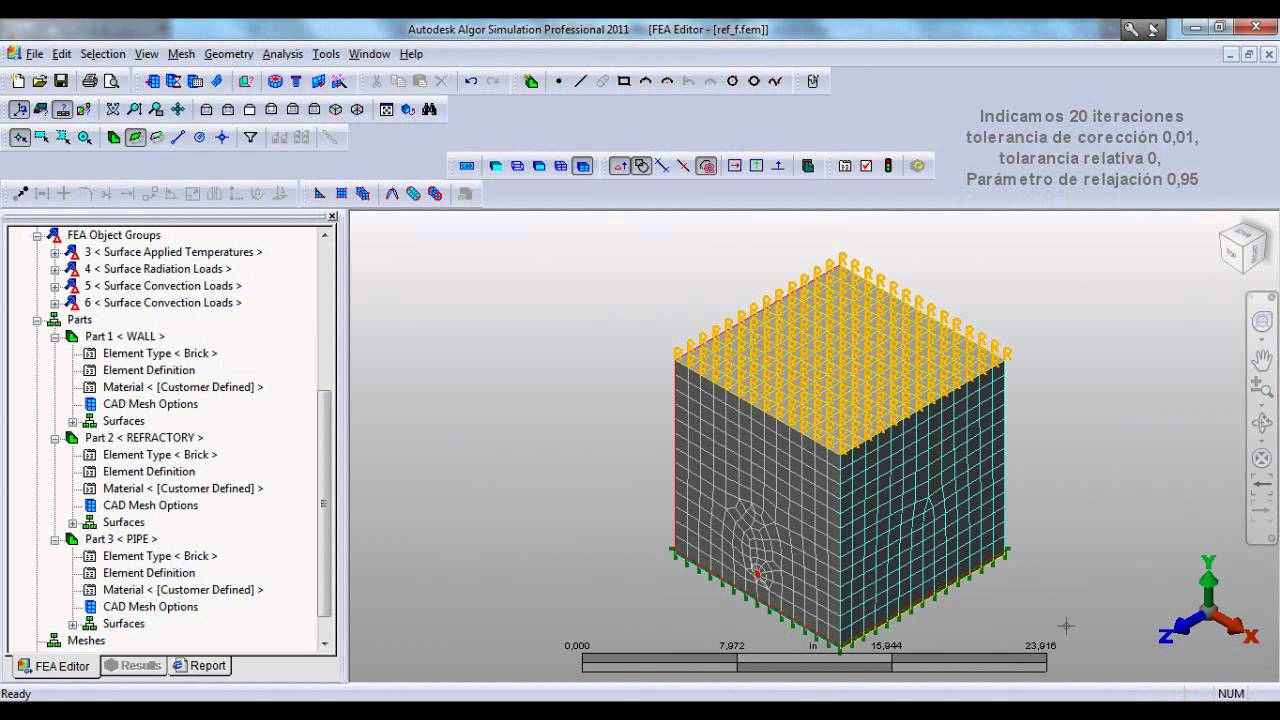 Autodesk algor simulation 2011 tutorials: analyze the model.