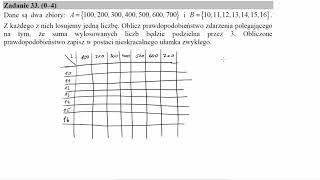 Dane są dwa zbiory A={100,200,300,400,500,600,700} i B={10,11,12,13,14,15,16}  Z każdego z nich losu