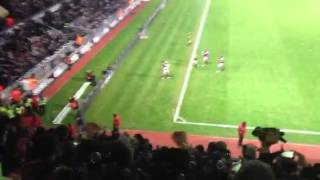 Andy Carroll penalty against Tottenham