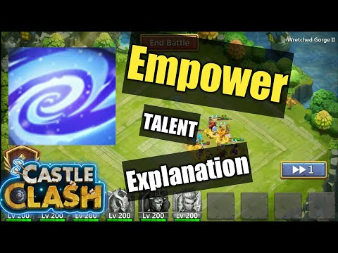 Castle Clash | Guide For Empower Talent