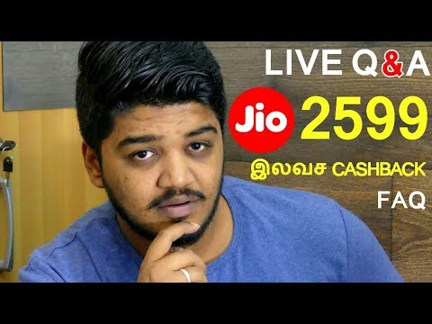 Jio 2599 Triple CashBack Offer | Airtel 200GB Data | Live Q&A FRQ - Tamil | தமிழ்