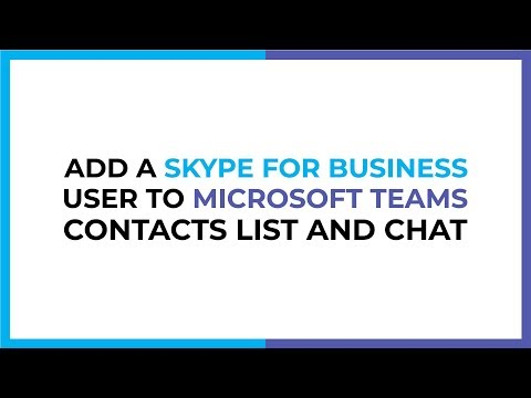 Add An External (Skype For Business) User To Chat In Microsoft Teams