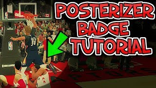NBA 2k19 BEST POSTERIZER CONTACT DUNK BADGE FAST & EASY TUTORIAL FOR ALL SLASHER BUILDS