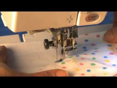 How To Use Janome Open Toe Free Motion Quilting Foot Youtube