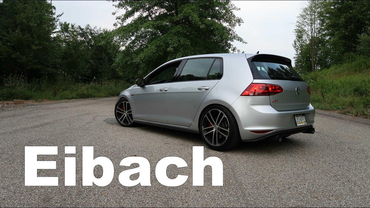 Mk7 Golf R >> MK7 GTI Eibach Sportline Review - YouTube