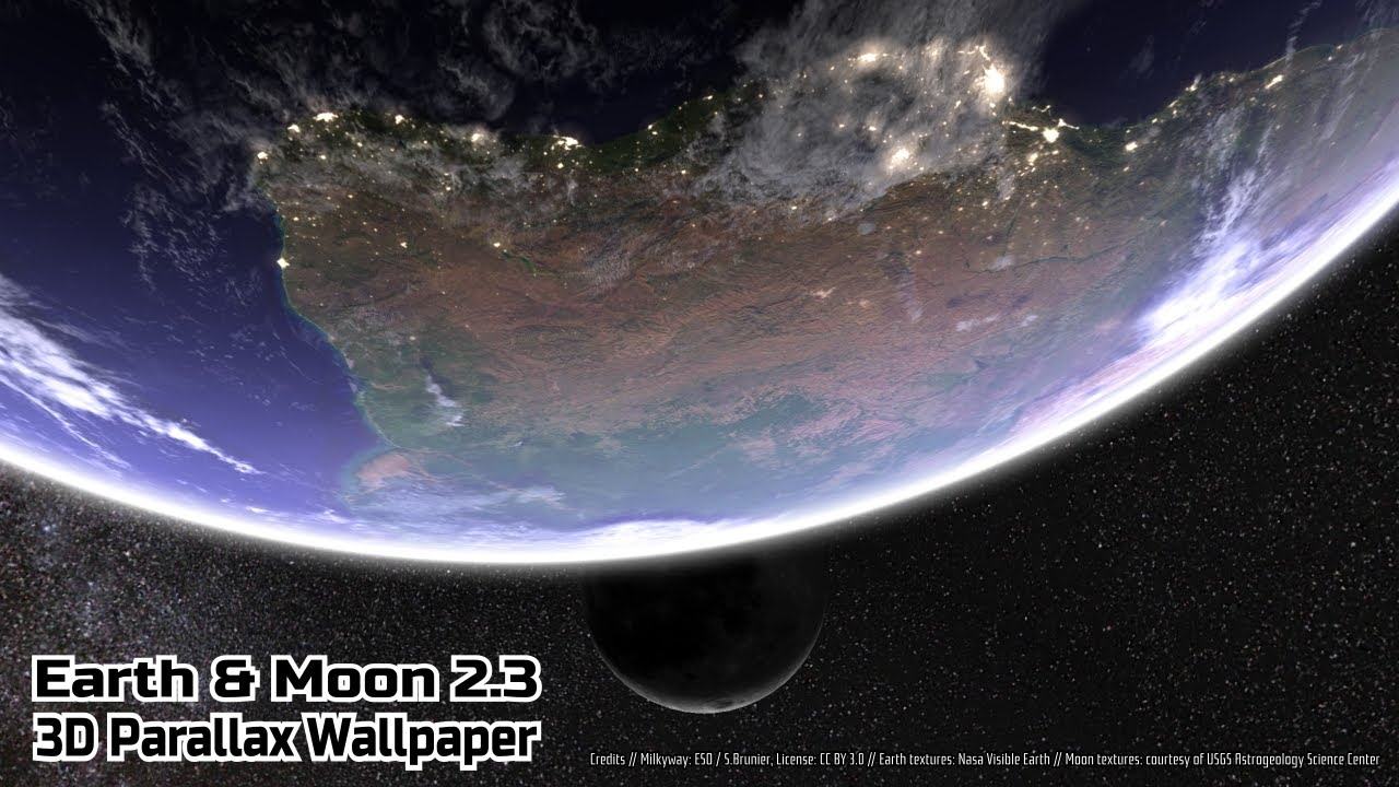 Earth & Moon Live Wallpaper for Android - YouTube