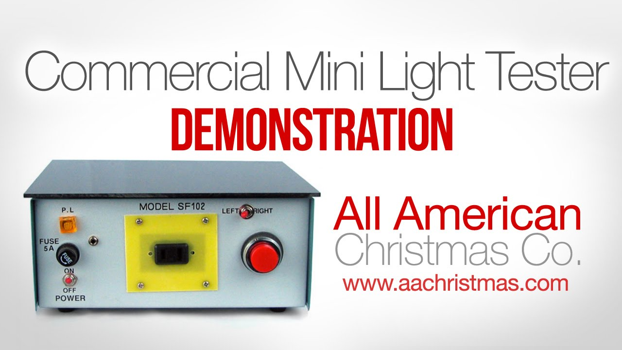 mini christmas light commercial repair box demo youtube