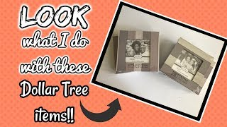 QUICK and EASY | LOOK what I do with these DOLLAR TREE Frames | Dollar Tree Frame Diy