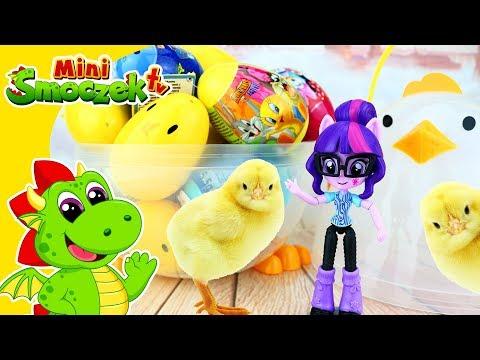 My Little Pony: Twilight Sparkle Equestria Girl i Wielki Kurczak! Jajka Niespodzianki Dla Dzieci!