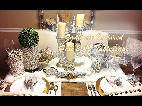 Fall 2016 ZGallerie Inspired Tablescape and Dining Room Tour - YouTube
