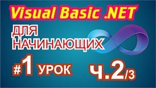 Visual Basic 2010 для начинающих 1й урок 2/3