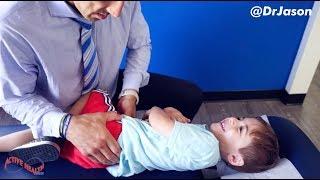 Dr. Jason - FULL SPINE WELLNESS VISIT FOR 4 YEAR OLD (HUGE LOWER BACK RELEASE)