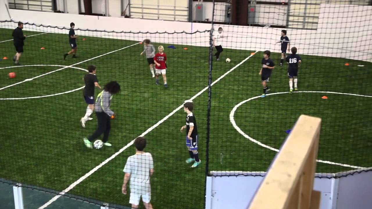 Liberty Sports Indoor Soccer Training Session W Tony Vardaro And