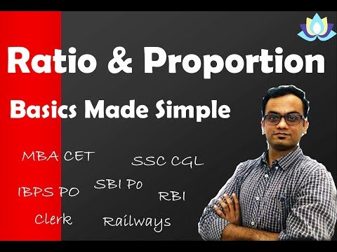 Ratio & Proportion Aptitude Tricks Part -1, ( English & Hindi ) Apti | SSC | IBPS | SBI | GRE