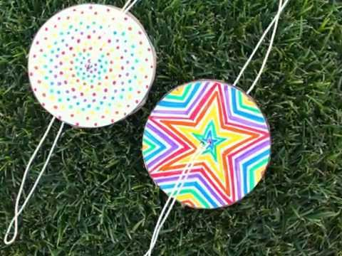 how to make a paper spinner--great kids craft