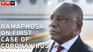President Cyril Ramaphosa spoke to the media in Pretoria about the first case of Coronavirus in South Africa and has asked South Africans to not panic.  #Coronavirus #CoronavirusSA #Covid19