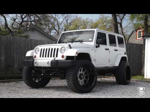 Female Owned Jeep Wrangler on 24x14 Specialty Forged Wheels And 37s On A 6