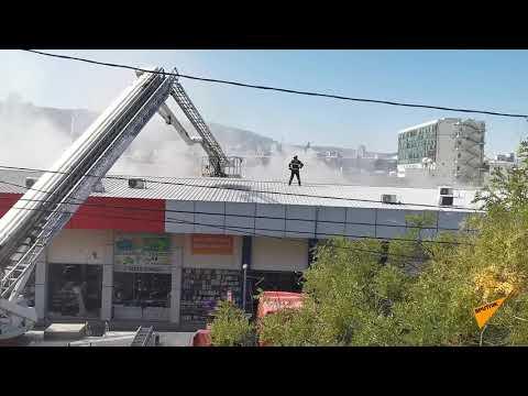"""Крупный пожар в Тбилиси: горит торговый центр """"Терги"""""""