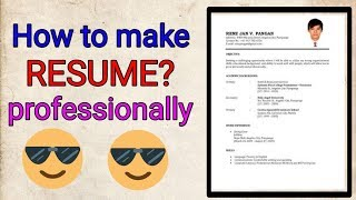 How to make best resume from android phone(mobile).Make Biodata professionally. for fresher and expe