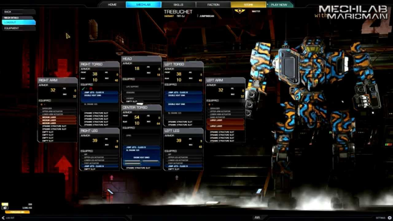 Mechwarrior Online Mechlab With Marioman Trebuchet Tbt 5j Jumpin Diagram System Of The Device Bean