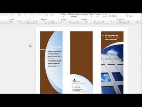 Como Hacer Un Brochure En Office Publisher 2013 15 Youtube