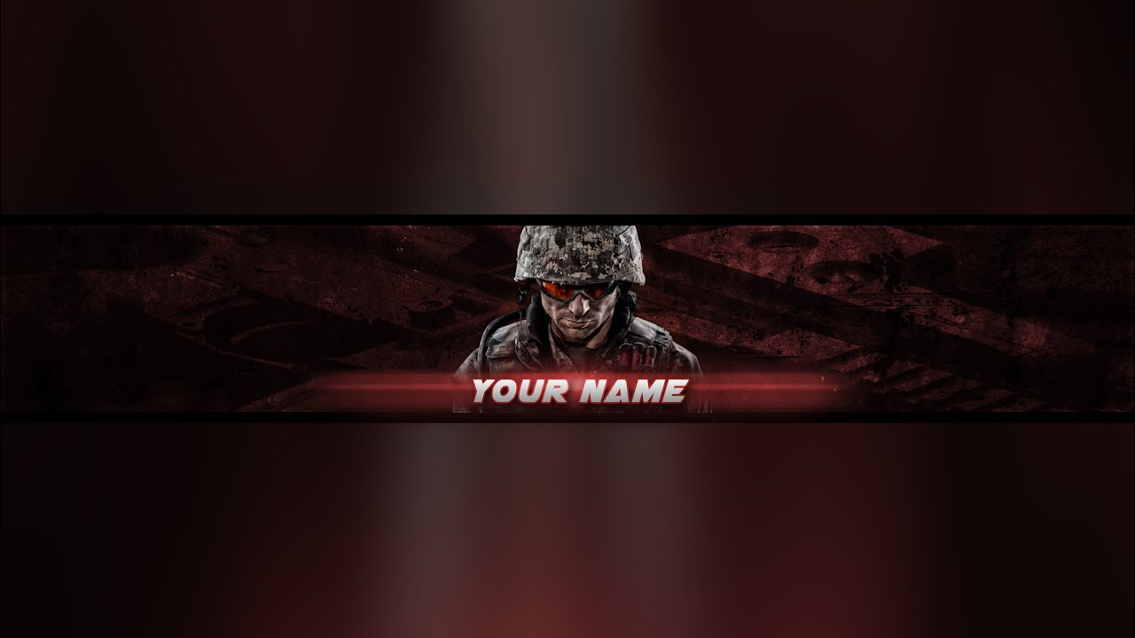 Photoshop Gaming Bannerchannel Art Template D Download 2