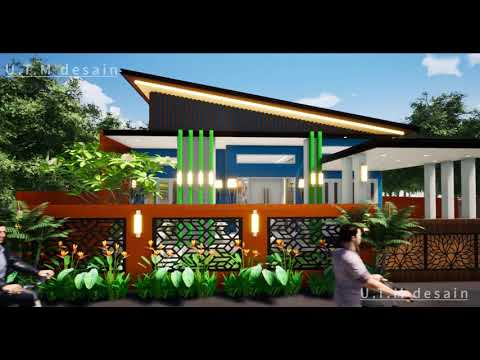 desain rumah minimalis modern tropis 1 lantai atap miring
