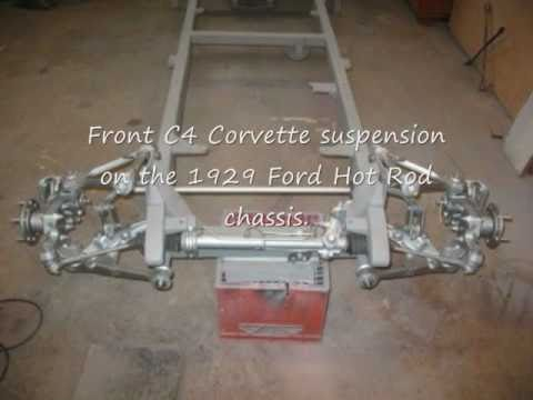 Finishing the 1929 Ford Model A hot rod frame using C4 Corvette Suspension  - DIY - home built