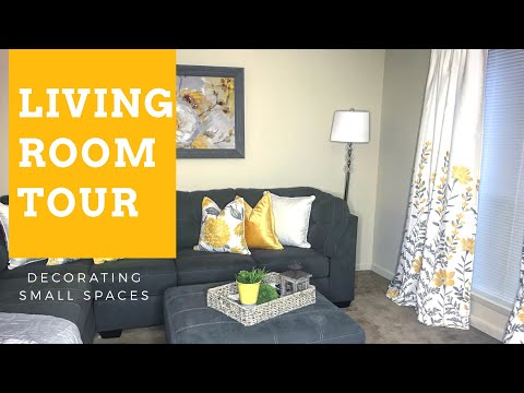 Decorating Small Spaces: Living Room Tour {apartment