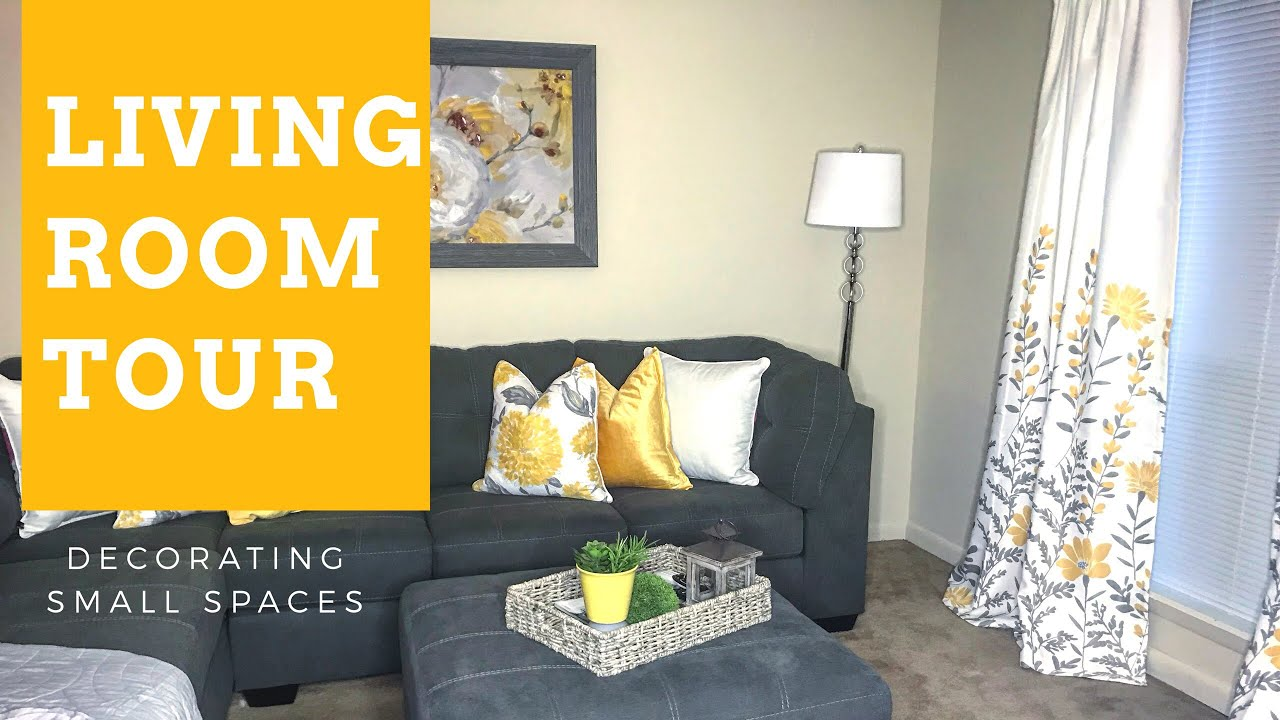 Decorating Small Spaces: Living Room Tour {Apartment}