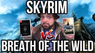 Skyrim vs. Breath of the Wild - What's the BETTER Open World Switch Game? | RGT 85