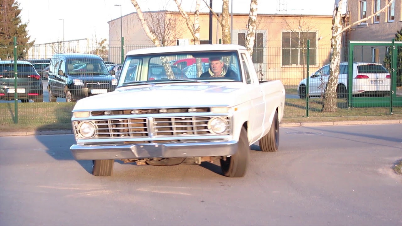 1973 Ford F100 Longbed V8 360cui Youtube 1955 Long Bed