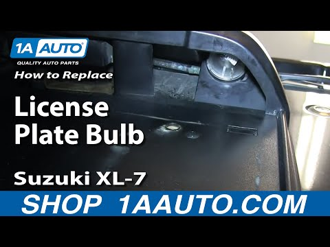 How To Replace License Plate Bulbs 98-06 Suzuki XL-7