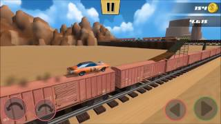 Canyon and Train Jump - Stunt Car Challenge 3