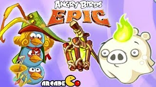 Angry Birds Epic: Giant Ghost Piggies BOSS Cave 3 Misty Hollow 2
