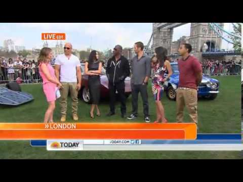 Fast & Furious 6 Today Show Interview Travel Video