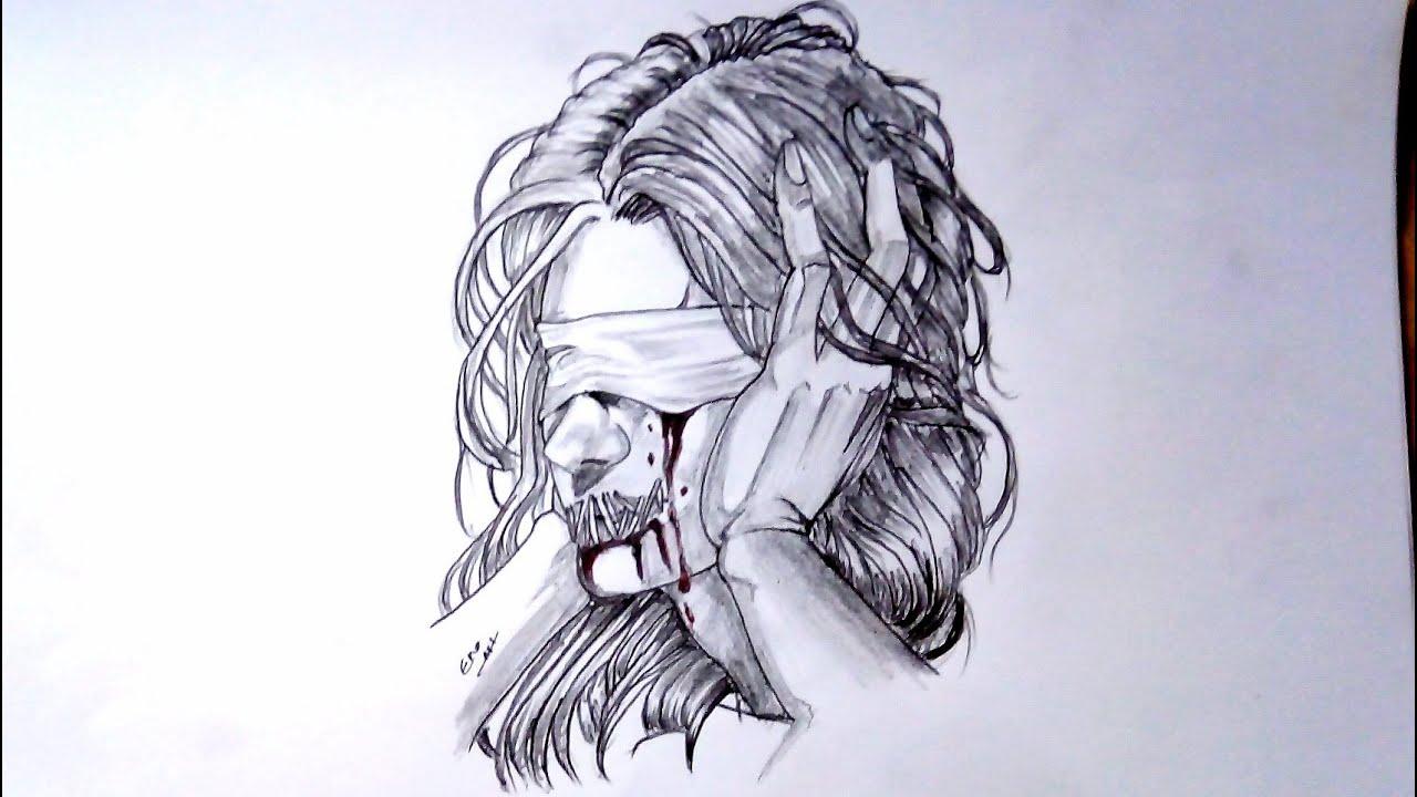رسم سهل بالرصاص سلسلة الرسوم التعبيرية 5 Youtube