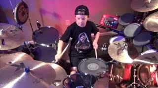 """""""The Dance of Eternity, Dream Theater"""" Avery Molek, 8 year old Drummer"""