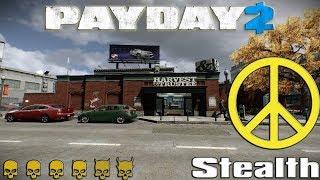PAYDAY 2!#Pazifistischer Bankraub! O Kills![One Down](Solo-Stealth) *German*