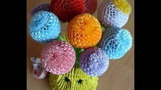 Шарики цветы из бумаги своими руками(Как сделать шары цветы из бумаги своими руками мастер класс от Евгеши. Комментируйте данное видео, ставьте..., 2015-03-17T13:24:49.000Z)