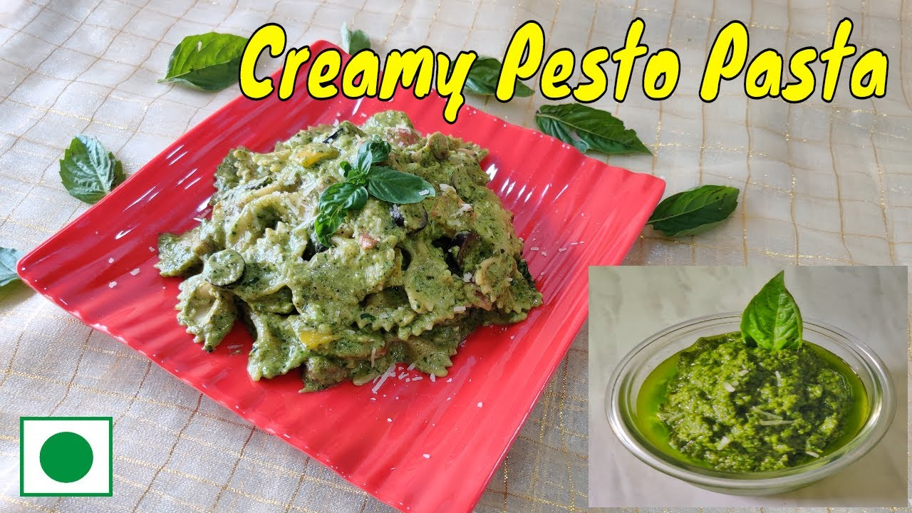 How to Make Pesto Pasta ! Homemade Basil Pesto Recipe in Hindi ! Creamy Pesto Sauce Pasta Recipe