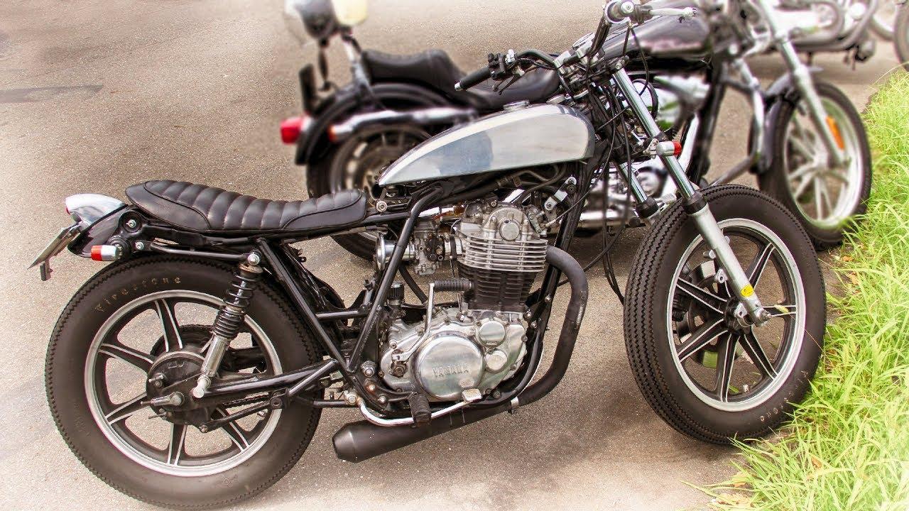 YAMAHA SR Custom Bike by chabott engineering - YouTube