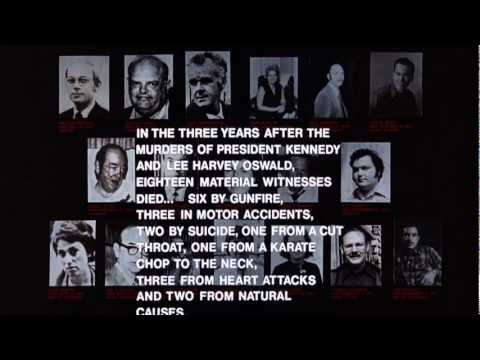 Spooky statistics about the JFK Asassination  final sequence from the film EXECUTIVE ACTION.mpg
