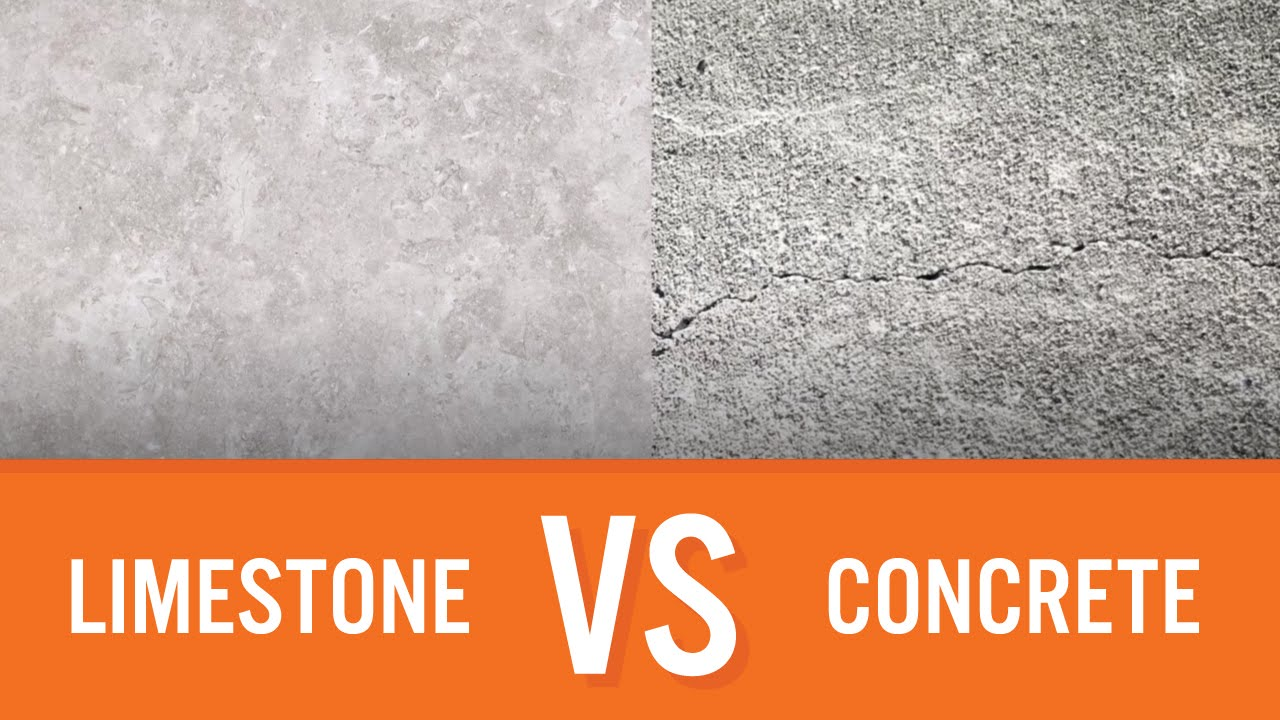 Limestone Vs Concrete Countertop Comparison Youtube
