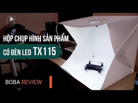 Hộp chụp hình sản phẩm có đèn Led TX115 [40x40x40cm] Chụp Cực Đẹp, Giá Ngon