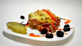 КАРТОШКА С МЯСОМ В ДУХОВКЕ! Простой рецепт.Recipe. Potatoes in the oven. Potato with meat.