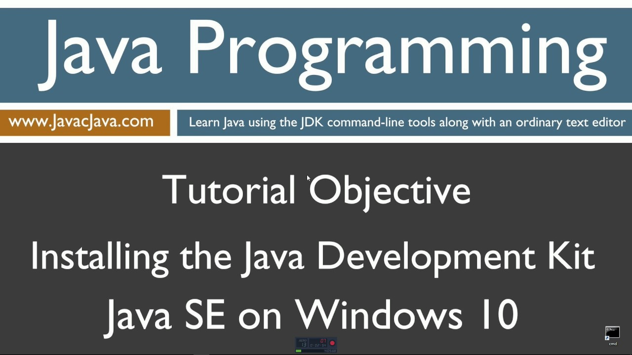 Learn java programming installing the java development kit jdk learn java programming installing the java development kit jdk on windows 10 tutorial baditri Gallery