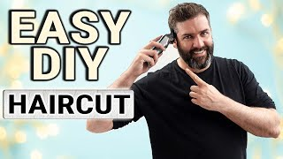 HOW TO CUT YΟUR OWN HAIR | Simple guide for cutting a gents hairstyle
