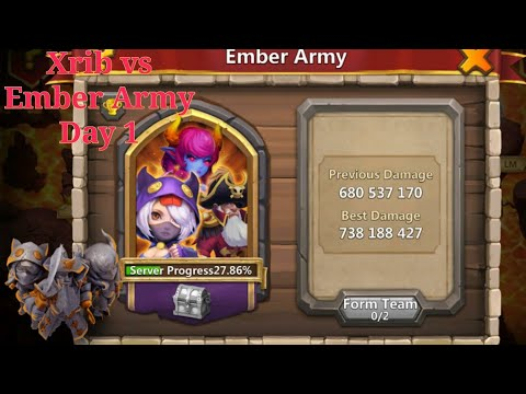 Castle Clash IGG Xrib Style Castle Crisis Ember Army Day 1&2 738m+. Top 5 Placement